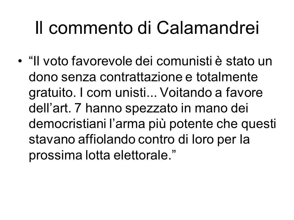 Il commento di Calamandrei