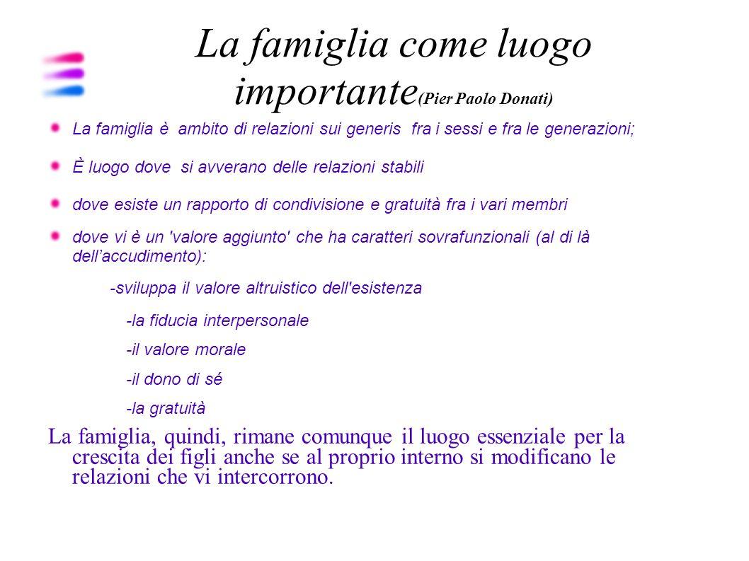 La famiglia come luogo importante(Pier Paolo Donati)