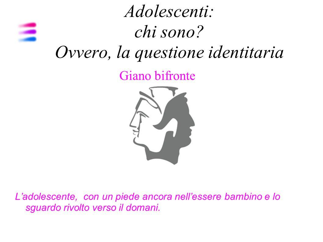 Adolescenti: chi sono Ovvero, la questione identitaria