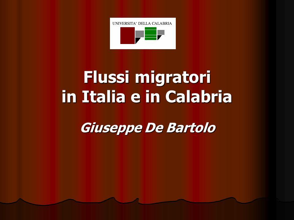 Flussi migratori in Italia e in Calabria