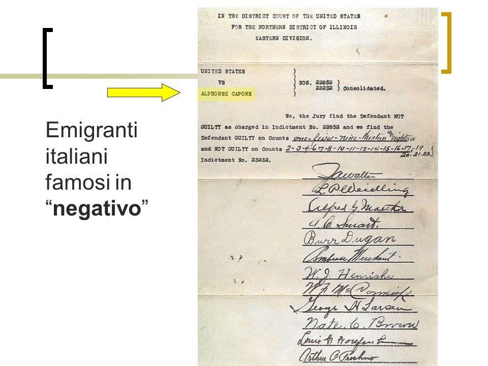 Emigranti italiani famosi in negativo