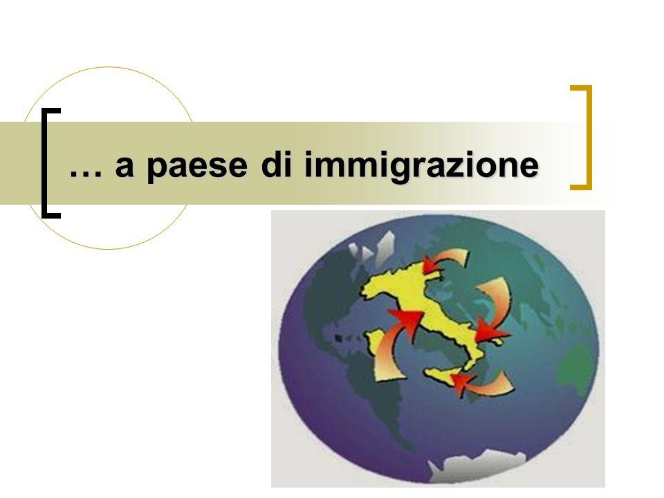 … a paese di immigrazione