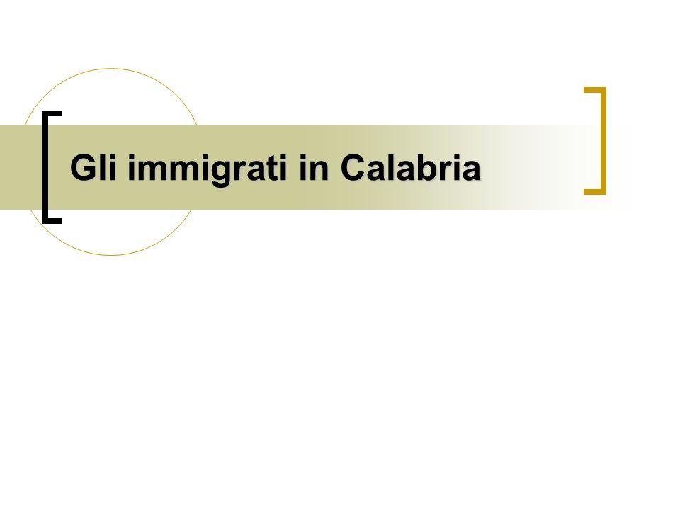 Gli immigrati in Calabria