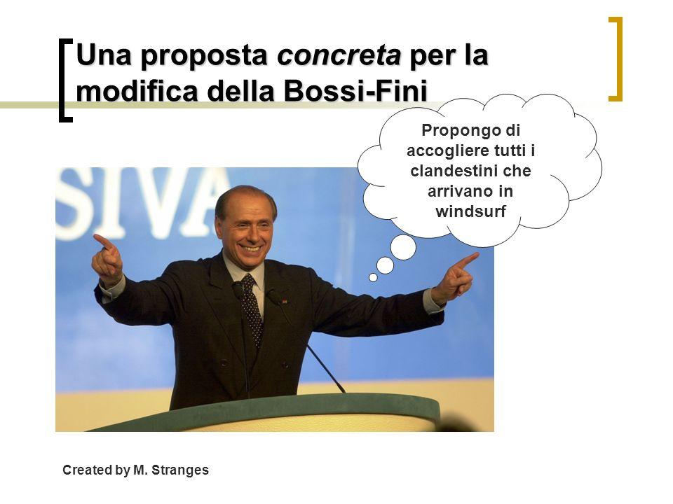 Una proposta concreta per la modifica della Bossi-Fini
