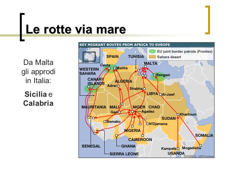 Da Malta gli approdi in Italia: