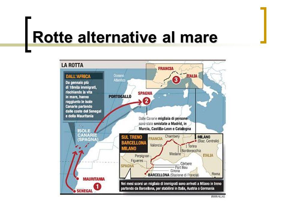 Rotte alternative al mare