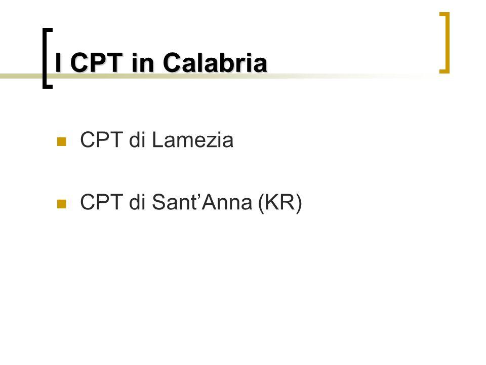 I CPT in Calabria CPT di Lamezia CPT di Sant'Anna (KR)