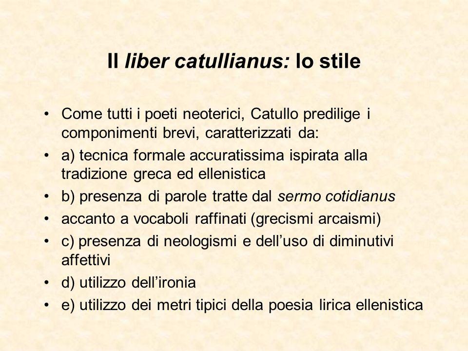 Il liber catullianus: lo stile