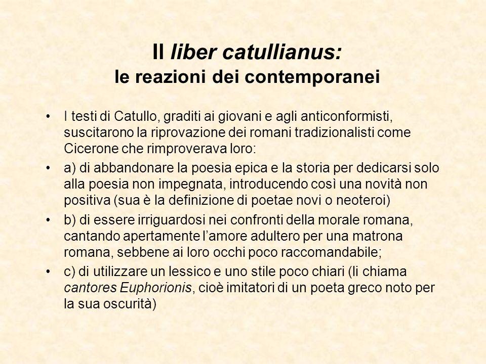 Il liber catullianus: le reazioni dei contemporanei