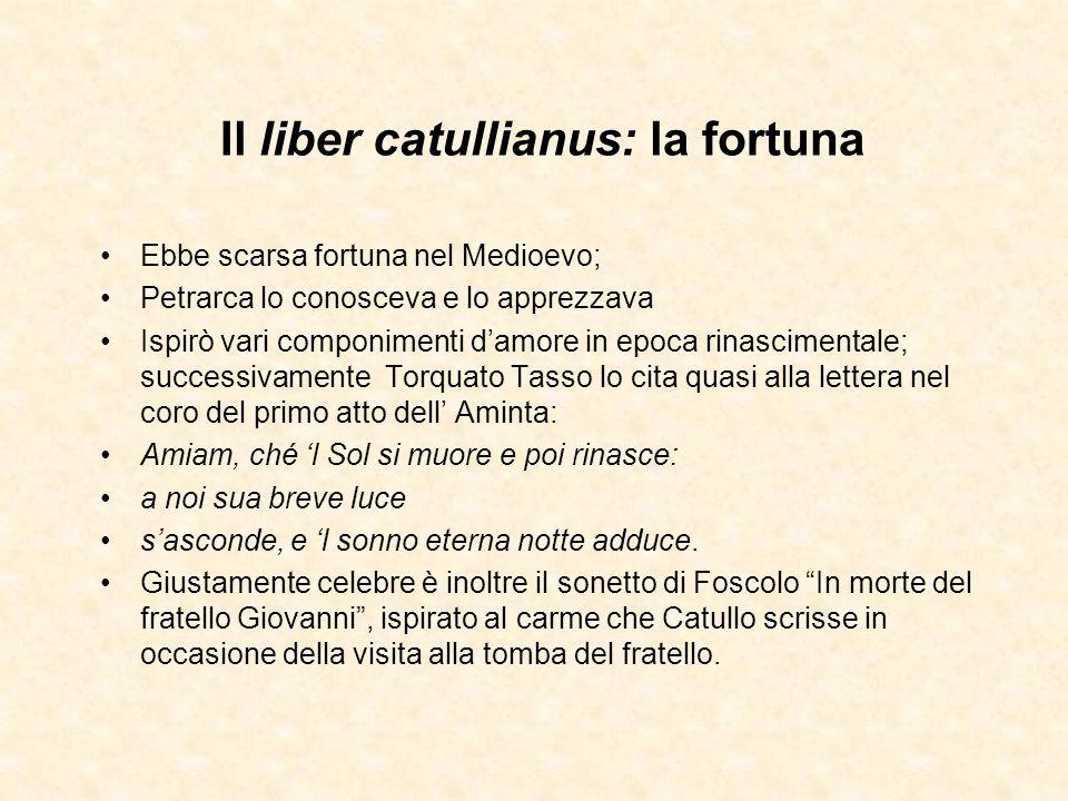 Il liber catullianus: la fortuna