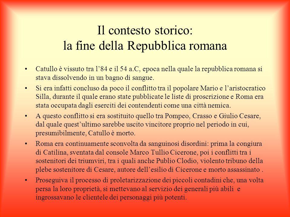 Il contesto storico: la fine della Repubblica romana