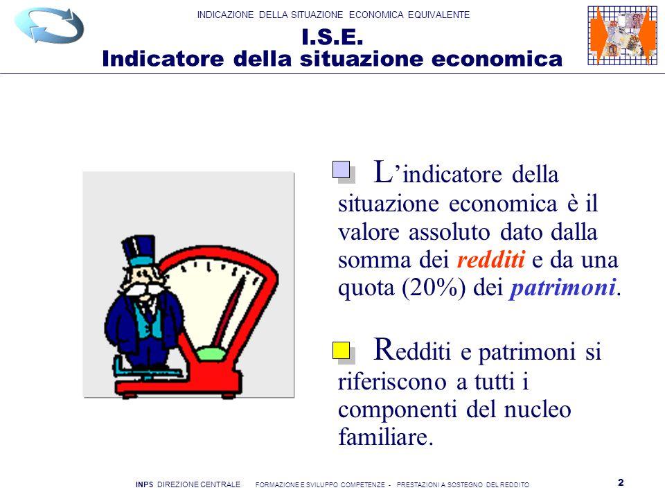 I.S.E. Indicatore della situazione economica