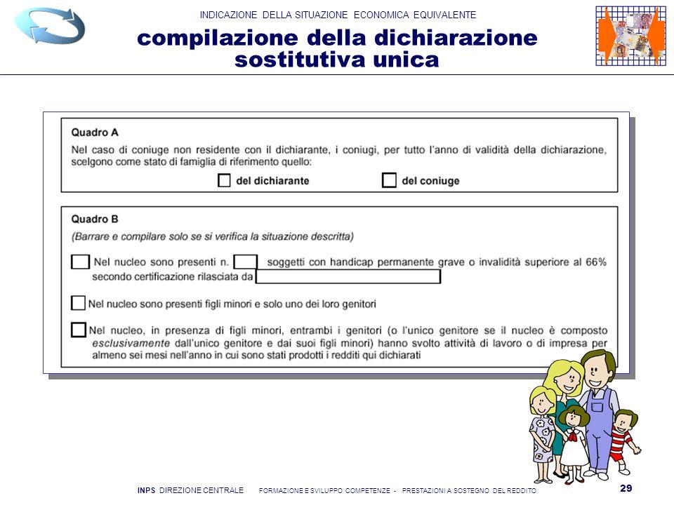 compilazione della dichiarazione sostitutiva unica