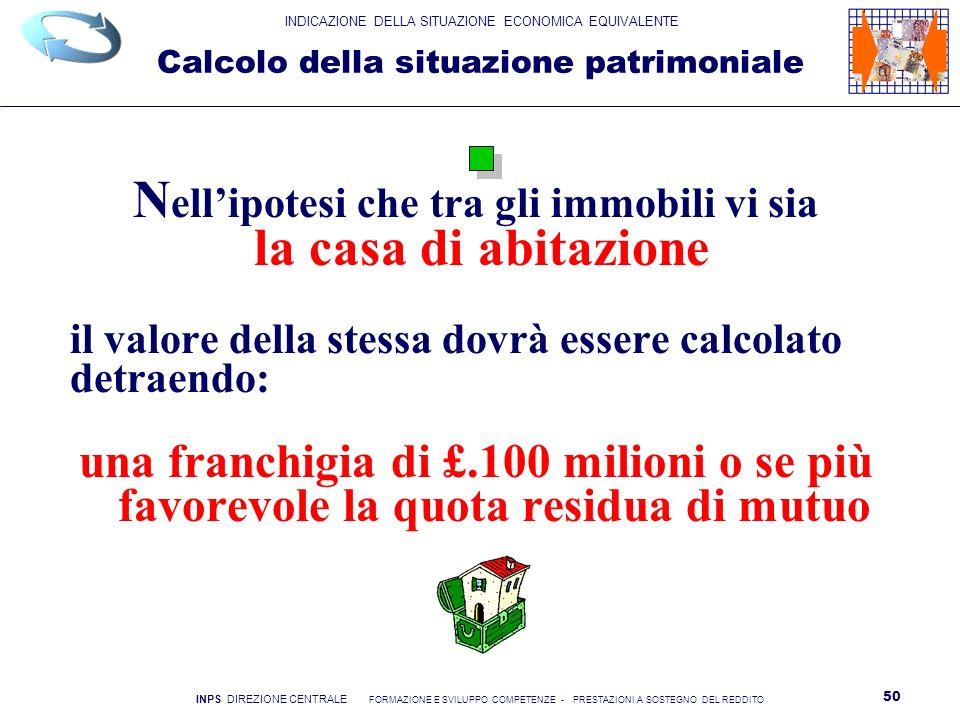Calcolo della situazione patrimoniale