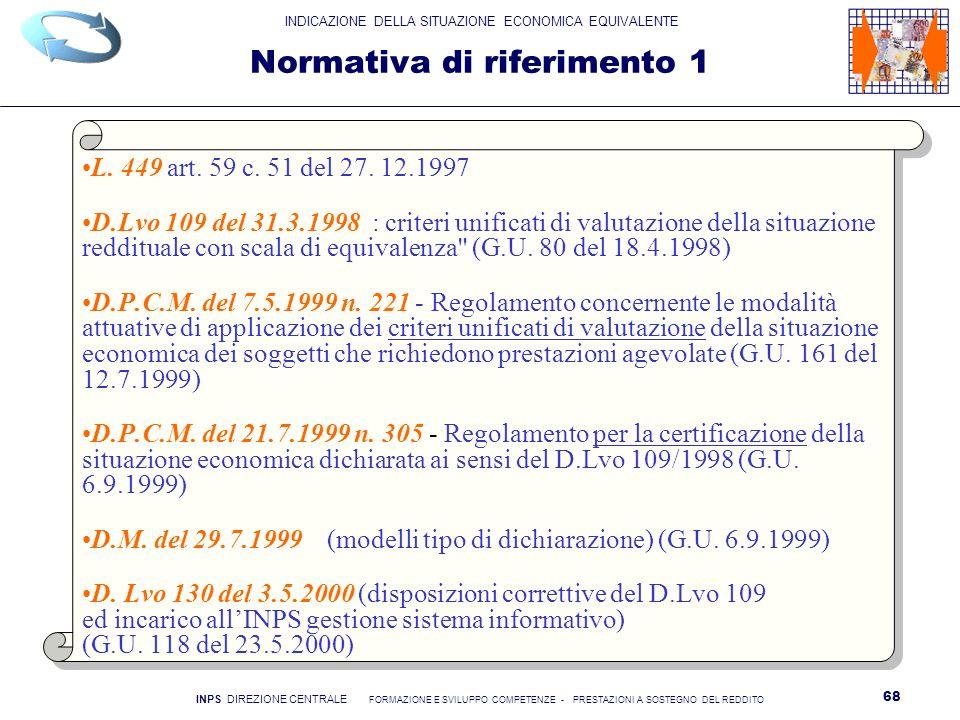 Normativa di riferimento 1