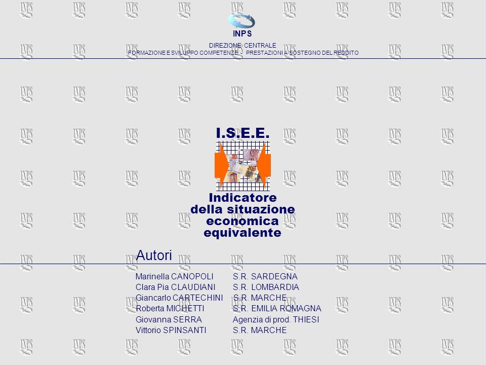 I.S.E.E. Autori Indicatore della situazione economica equivalente INPS