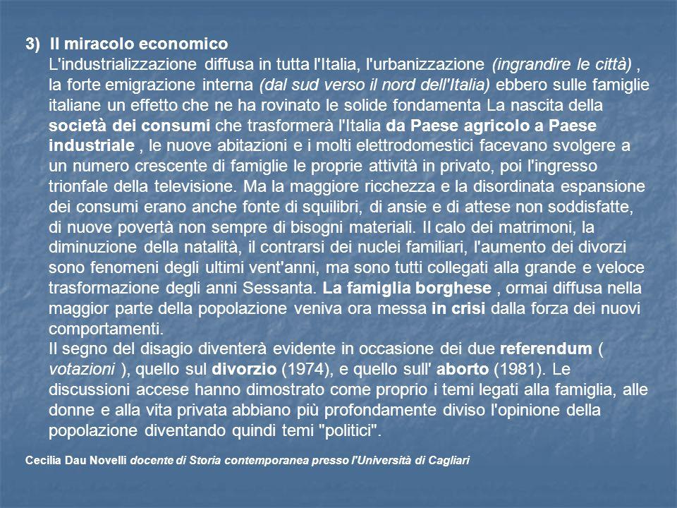 3) Il miracolo economico