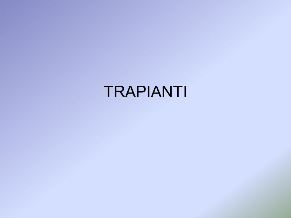 TRAPIANTI