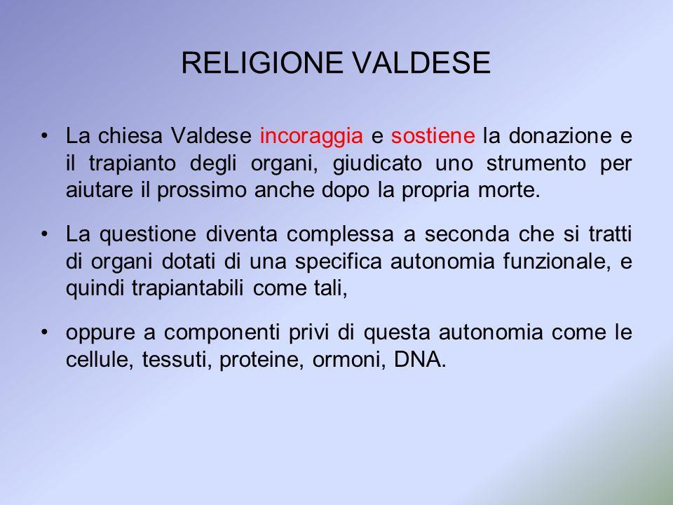 RELIGIONE VALDESE
