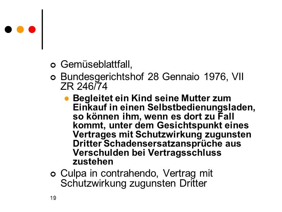 Bundesgerichtshof 28 Gennaio 1976, VII ZR 246/74