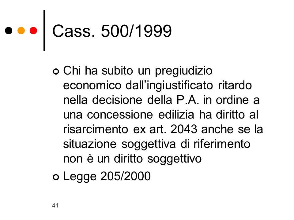 Cass. 500/1999