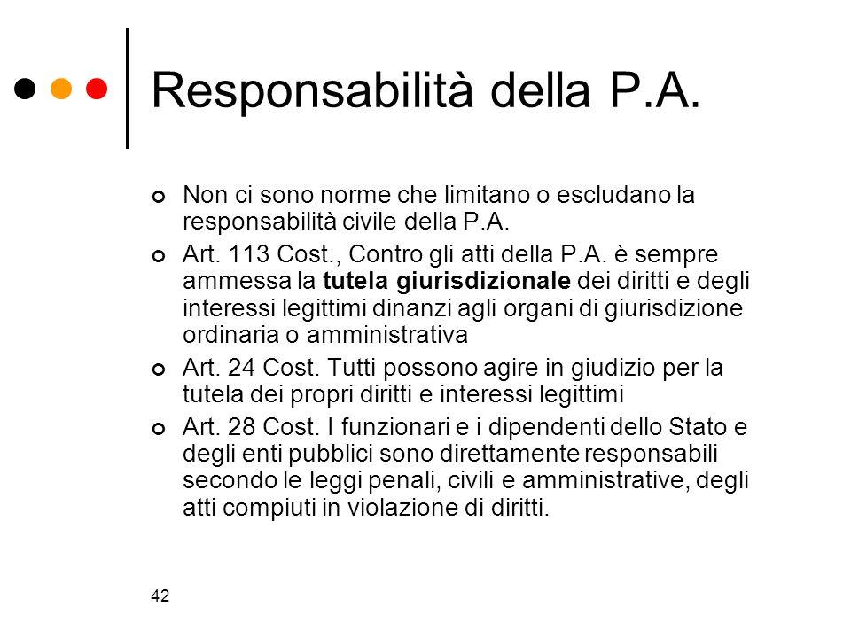 Responsabilità della P.A.