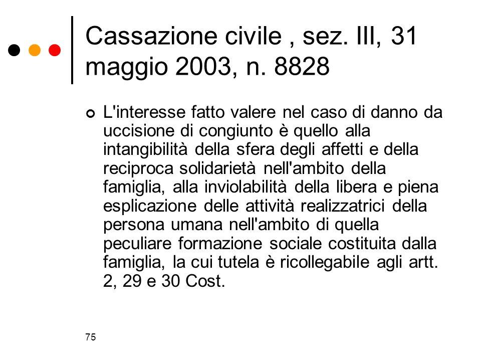 Cassazione civile , sez. III, 31 maggio 2003, n. 8828