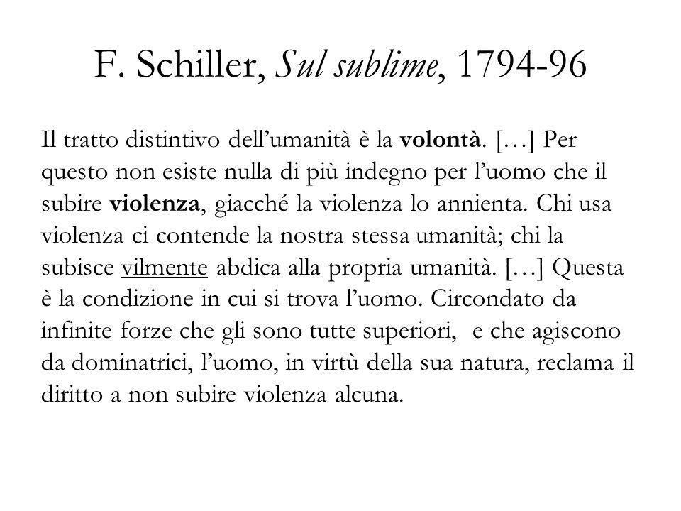 F. Schiller, Sul sublime, 1794-96