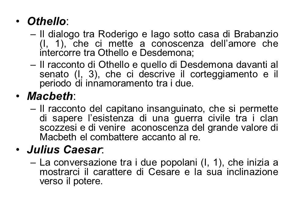 Othello: Macbeth: Julius Caesar: