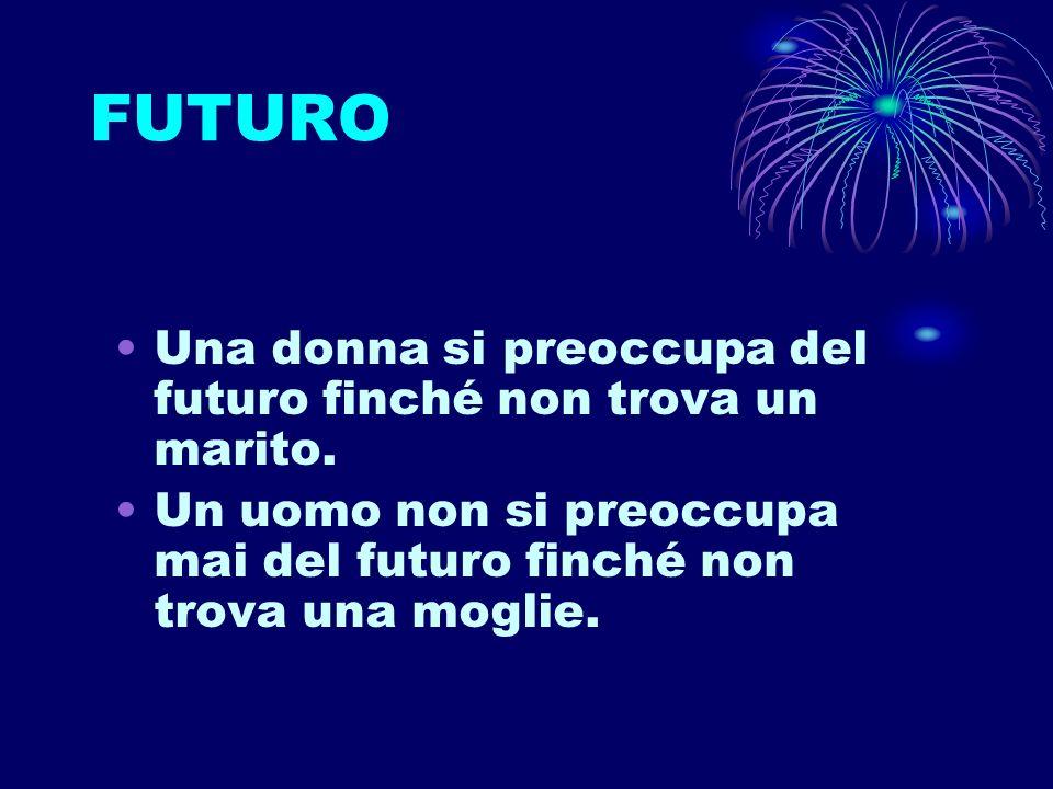 FUTURO Una donna si preoccupa del futuro finché non trova un marito.