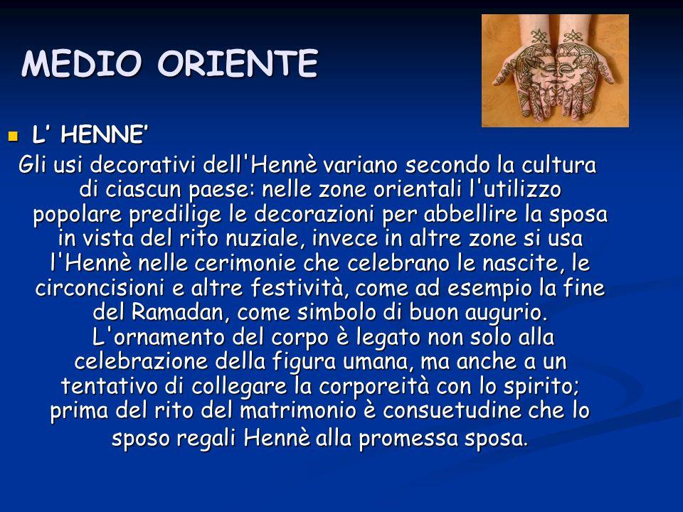 MEDIO ORIENTE L' HENNE'