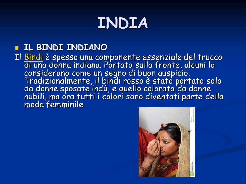 INDIA IL BINDI INDIANO.