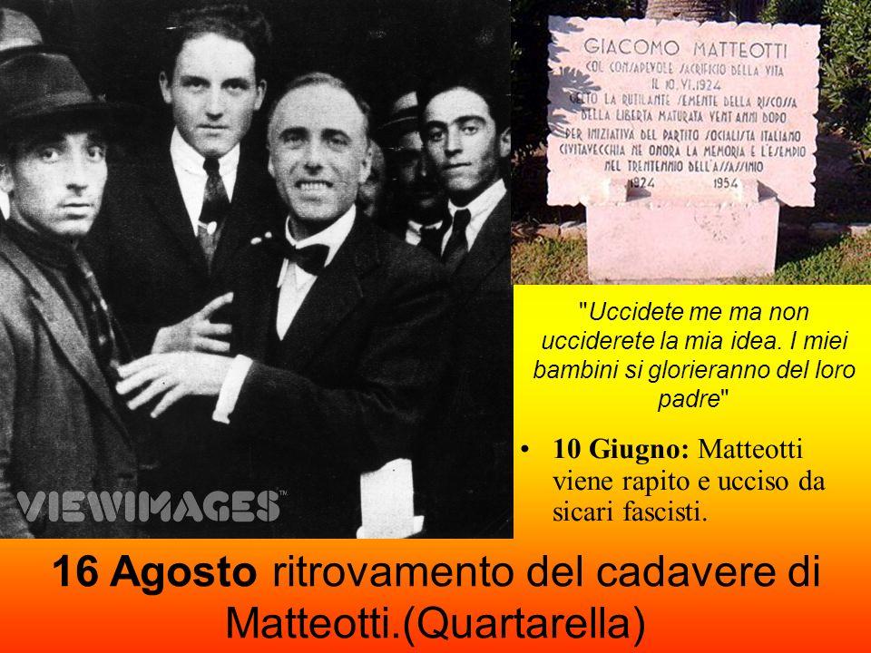 16 Agosto ritrovamento del cadavere di Matteotti.(Quartarella)