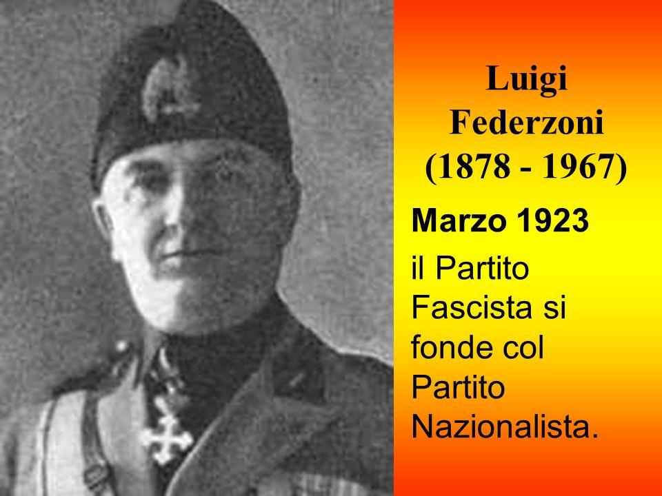 Luigi Federzoni (1878 - 1967) Marzo 1923