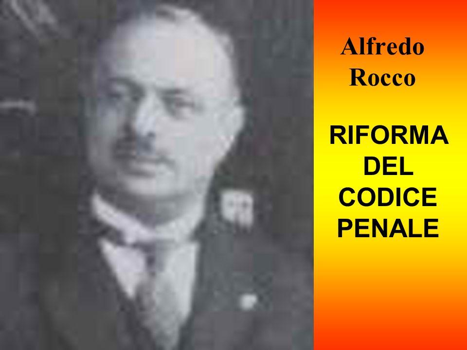 RIFORMA DEL CODICE PENALE