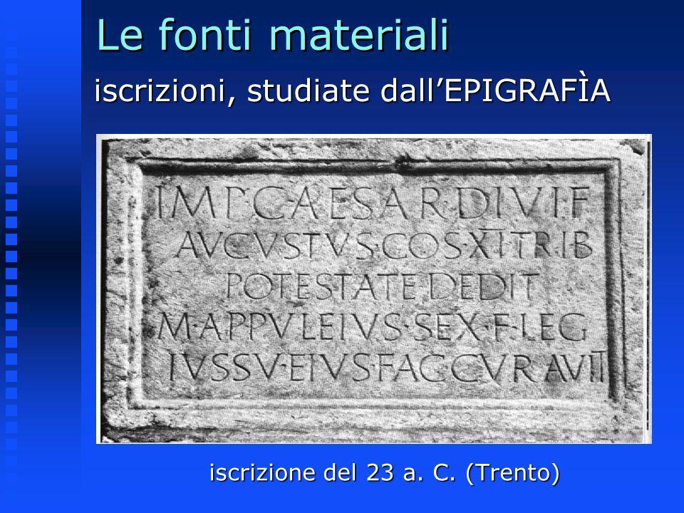 iscrizione del 23 a. C. (Trento)