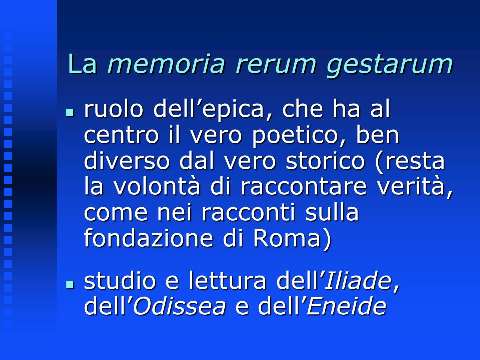 La memoria rerum gestarum