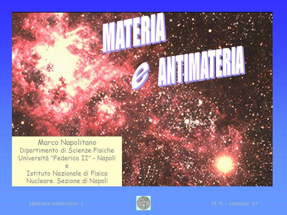 MATERIA ANTIMATERIA e Marco Napolitano