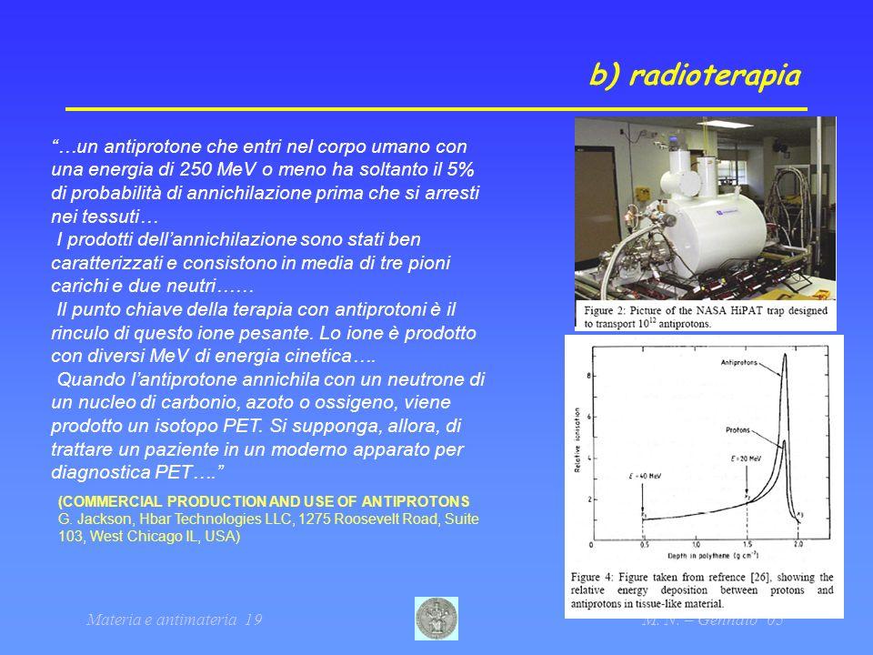 b) radioterapia