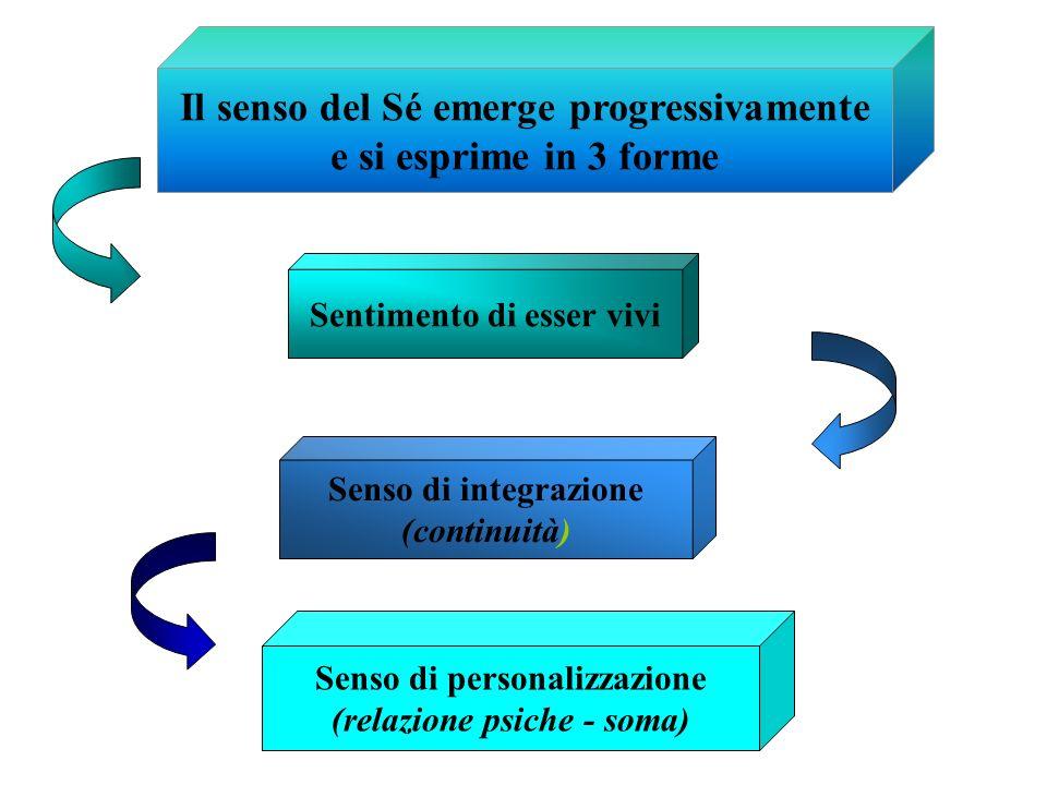 Il senso del Sé emerge progressivamente e si esprime in 3 forme