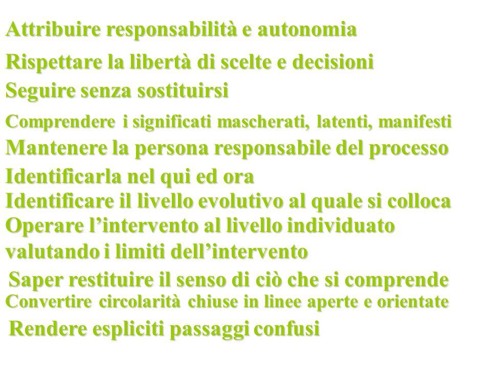 Attribuire responsabilità e autonomia
