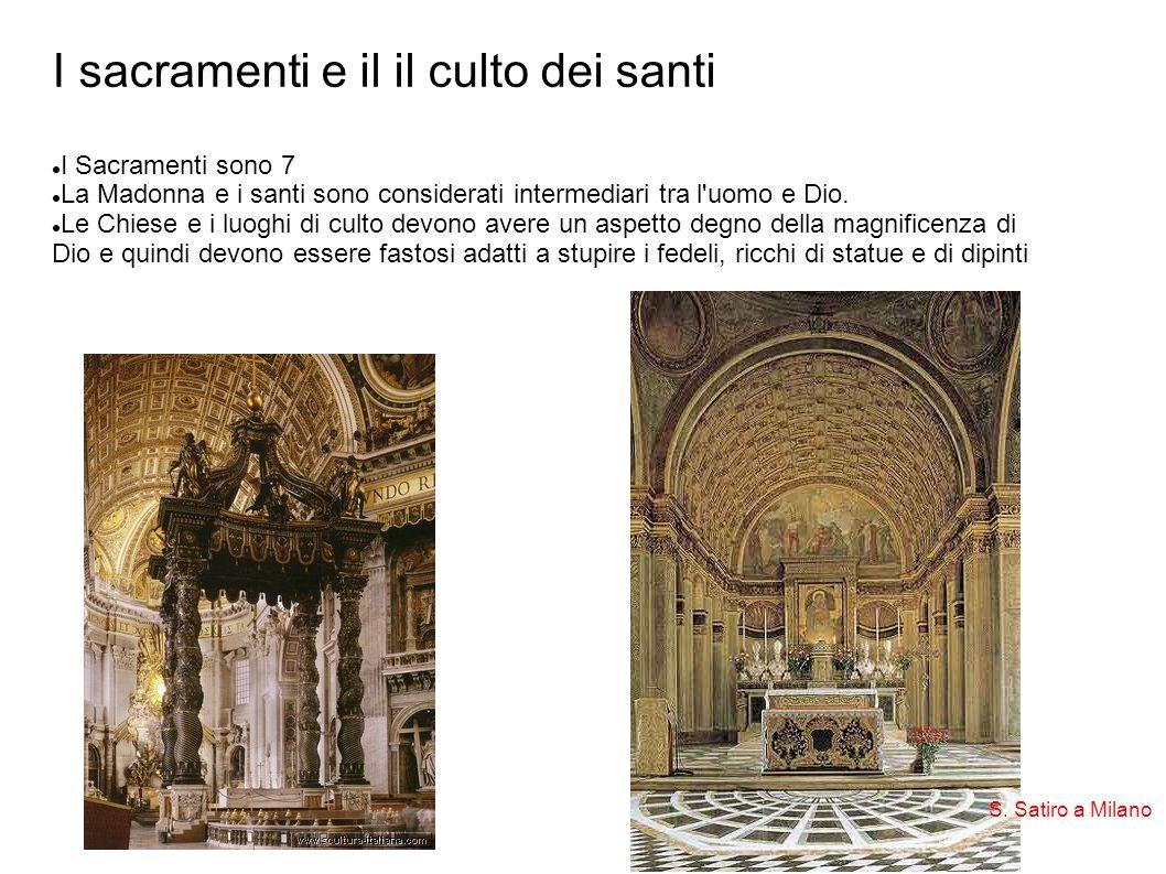 I sacramenti e il il culto dei santi