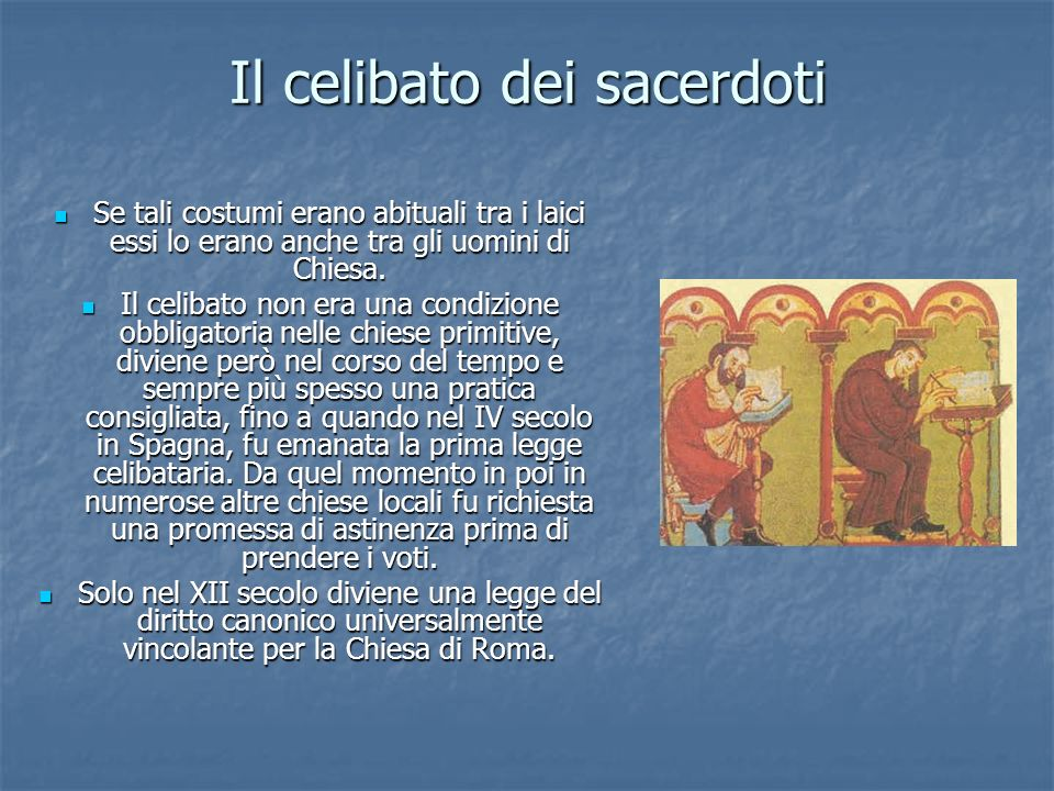 Il celibato dei sacerdoti