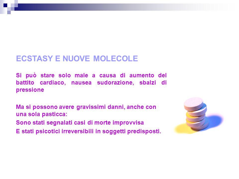ECSTASY E NUOVE MOLECOLE