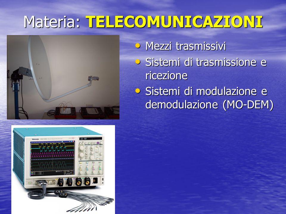 Materia: TELECOMUNICAZIONI