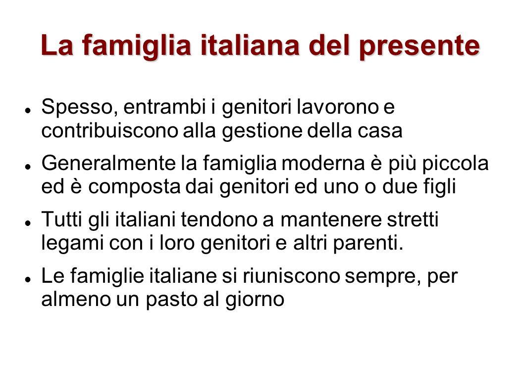 La famiglia italiana del presente