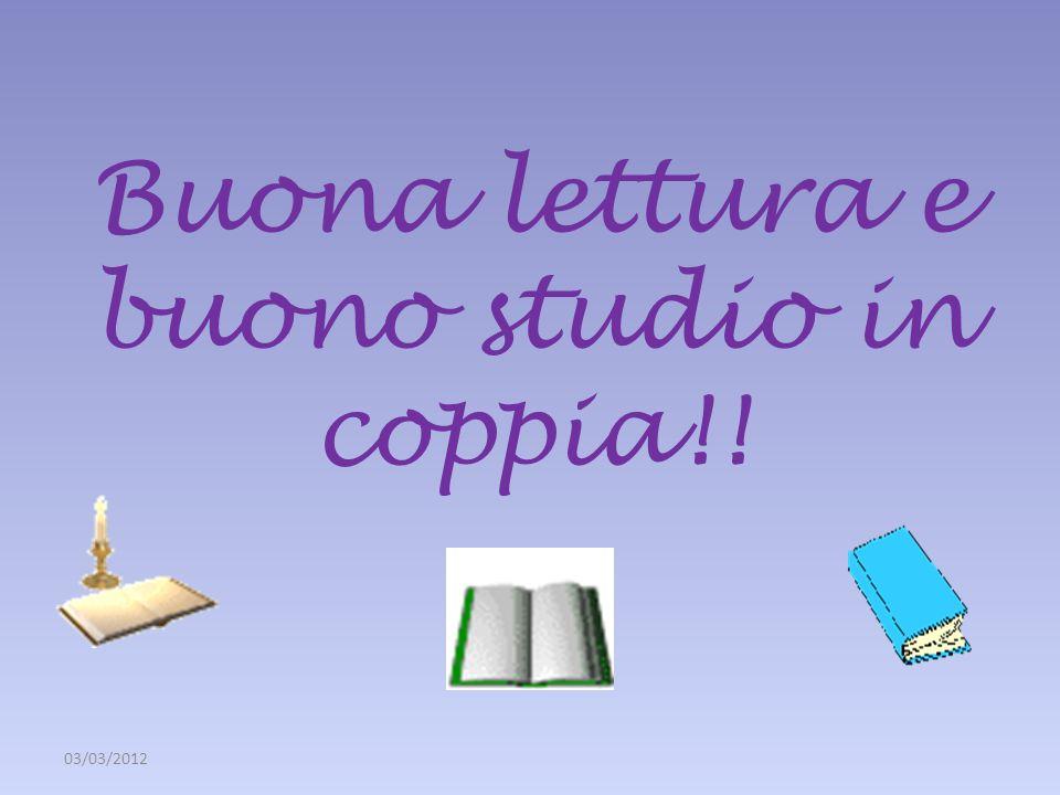 Buona lettura e buono studio in coppia!!