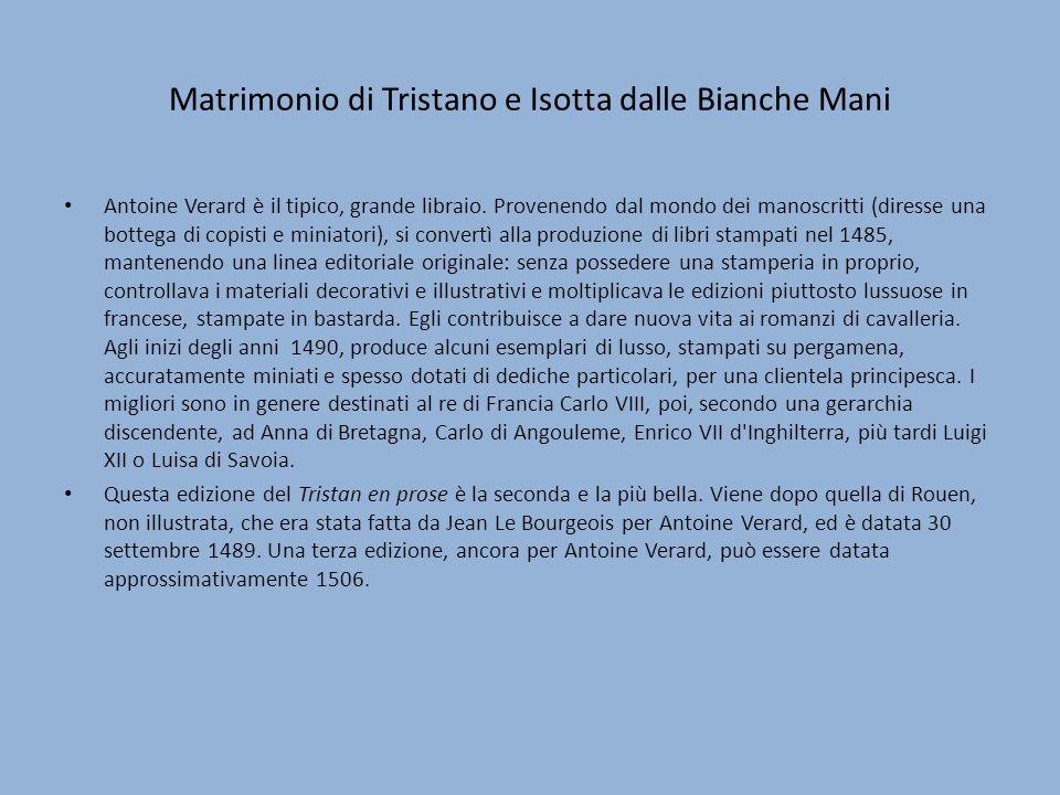 Matrimonio di Tristano e Isotta dalle Bianche Mani