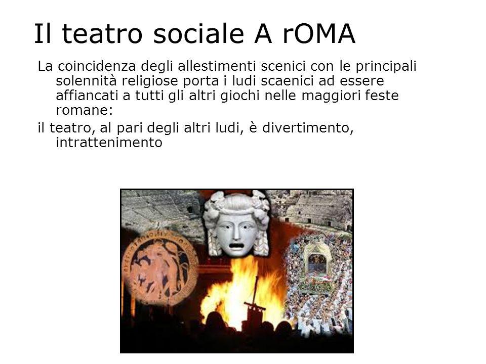 Il teatro sociale A rOMA