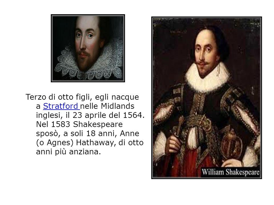 Terzo di otto figli, egli nacque a Stratford nelle Midlands inglesi, il 23 aprile del 1564.